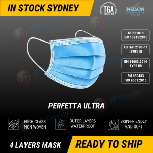 Perfetta Ultra 4Ply Mask ASTM Level 3 TGA Approved (Box of 50)