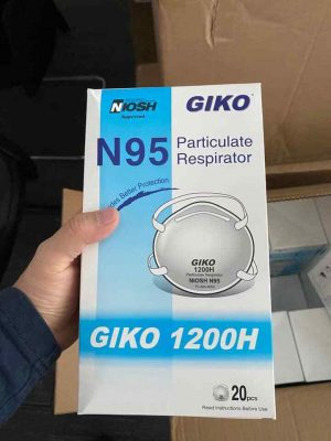 GIKO 1200H N95 Respirator CE CDC FDA Approved (20 Pcs)